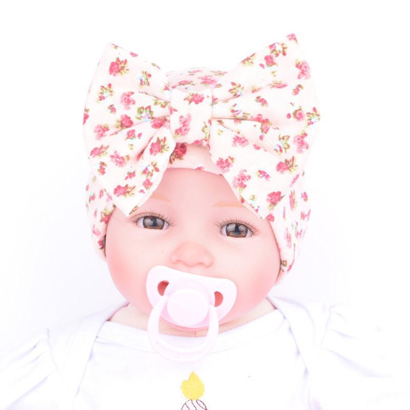 0-3 ay Bebek İçin Yenidoğan Bebek Cap Kış Çiçek ilmek Beanie Kid Kız Şapka Sıcak Yumuşak Hastanesi Caps