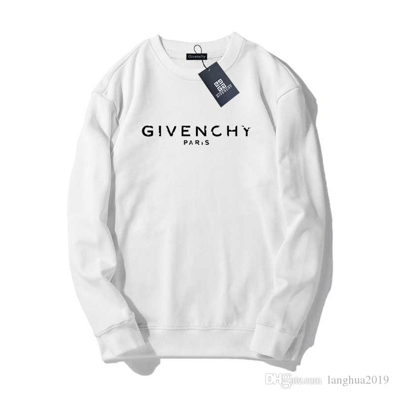 Givenchy 19ss Mens Designers Felpa Uomini Donne Maglione lunga lettera manica Stampa Pullover di marca Streetwear Moda sweatershirt