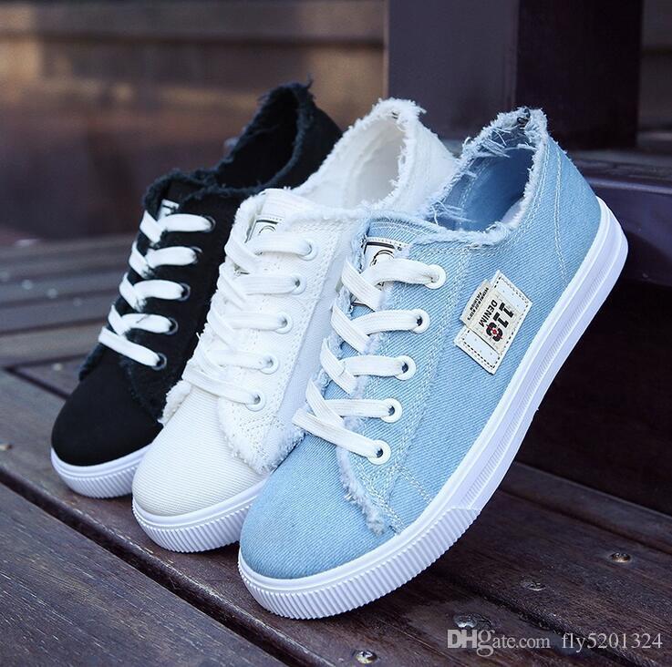 Leggera semplice estate sottile sottile nuova versione bianca del modello scarpe bianche scarpe da donna a spettacolo singolo da donna