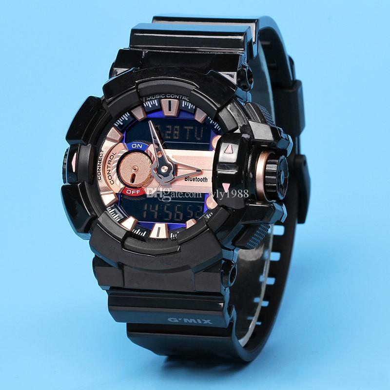 Ga400 sports watch LED waterproof and shockproof full function work automatic light Bluetooth digital men's watch
