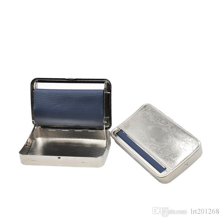 Caixa manual do cigarro do remendo da caixa do cigarro do metal de 110mm
