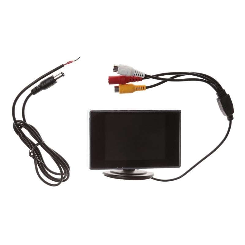 """3.5"""" TFT LCD Color Monitor Screen DVD VCD For Car Rear View Backup Camera"""