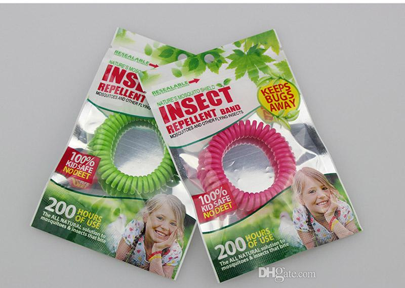 10 PCS Misturar cores Anti-Mosquito Repelente Pulseira Anti Mosquito Bug Repelir Repelente de Pulso Banda Pulseira Repelente de Insetos Mozzie Manter os Erros