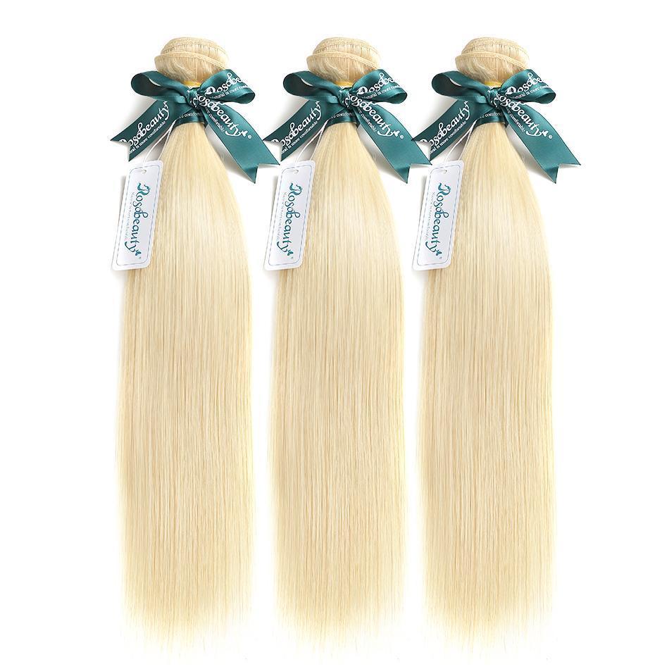 Cheveux blonds et raides 613 Couleur des cheveux Weave Bundles 3pcs Remy Cheveux brésiliens 613 Blonde Bundles
