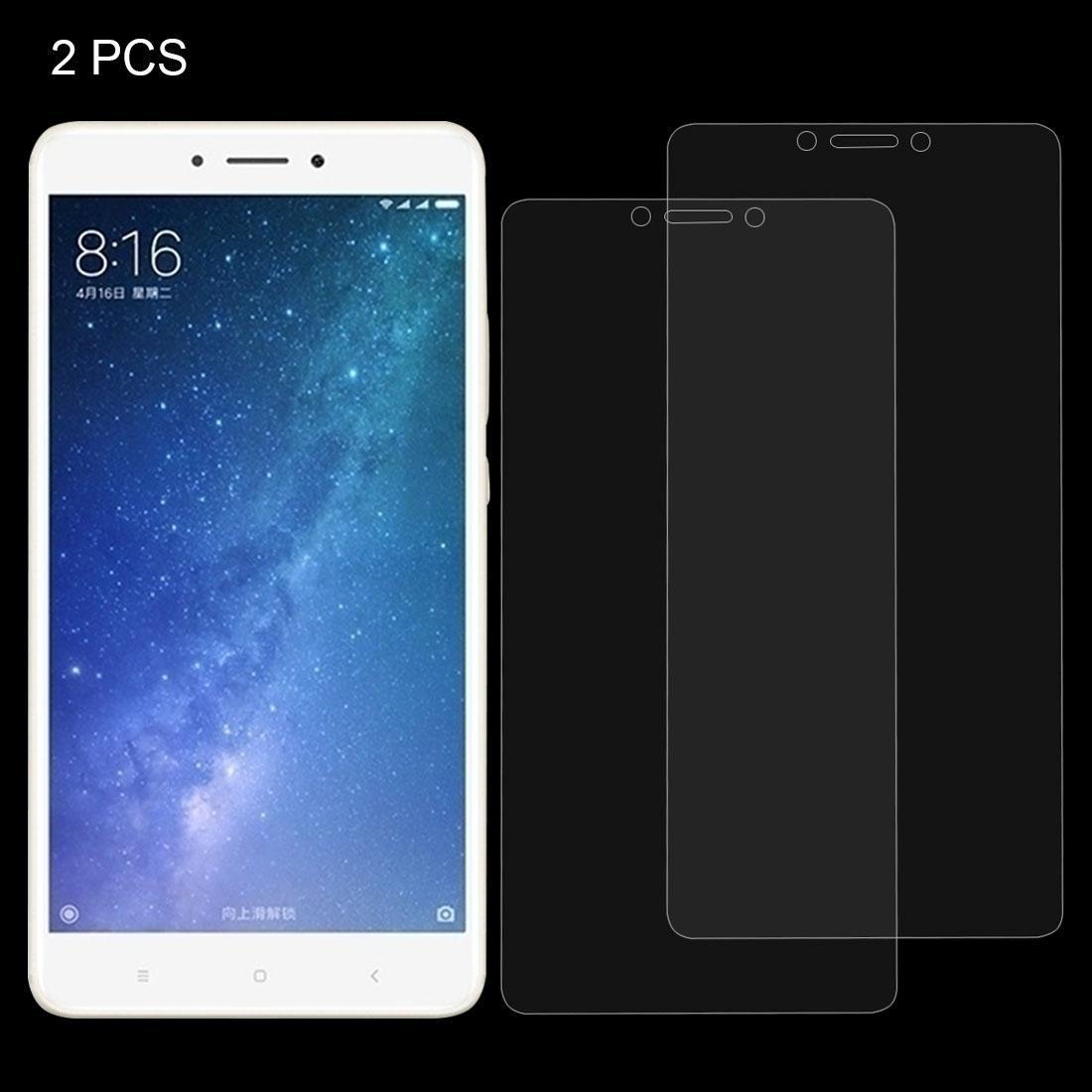 2 PCS für Xiaomi Mi Max 2 0.3mm 9H Oberflächenhärte 2.5D Explosionsgeschützte Nicht-Vollbildschirm-ausgeglichenen Glas-Schirm-Film