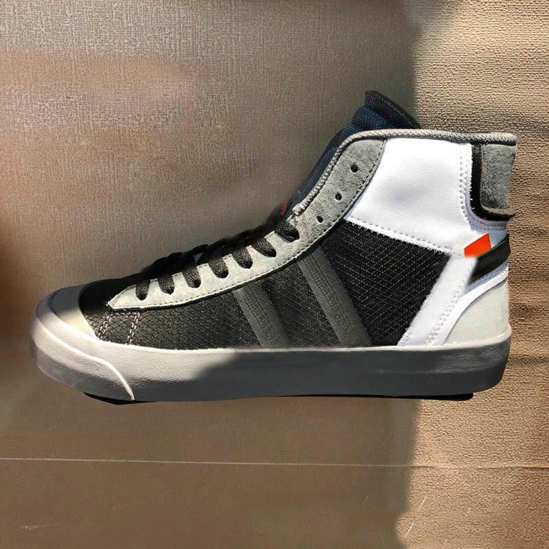 Acquista 2019 OFF White X Nike Blazer Ultime Scarpe Da Basket Da Uomo Blazer Mid Grim Reaper Nere All Hallows Eve Scarpe Sportive Firmate A $80.41 Dal