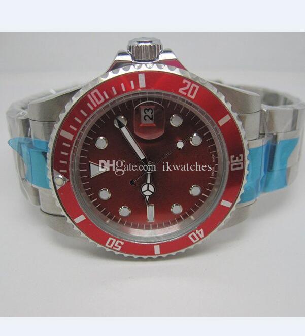 핫 고전 기계 남자 시계 자동 스테인레스 시계 남성 시계 손목 시계 R82