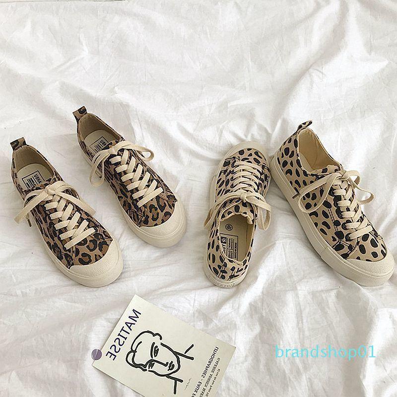 Fairy2019 calle Summer Time Ins leopardo de impresión de zapatos zapatos de lona sabor de la mujer de Hong Kong