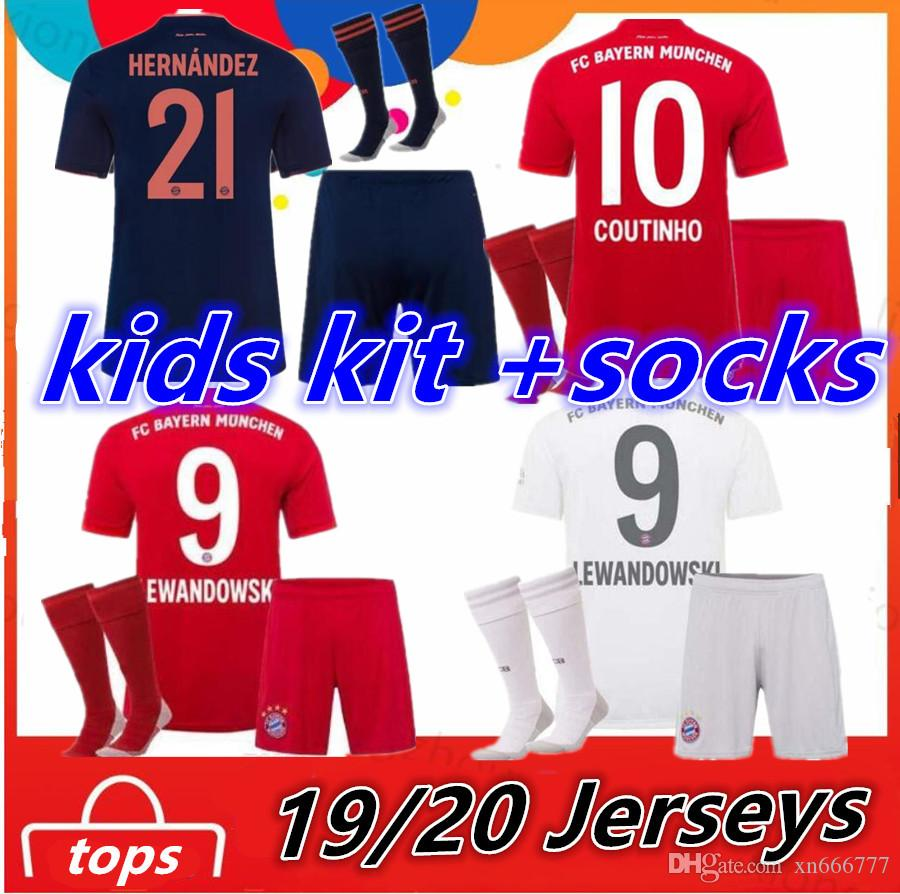 2020 Fc Bayern Munich 2019 2020 Kids Kit Socks Coutinho Perisic Lewandowski Soccer Jersey Home Away Third Muller Child Shirts Uniform From Xn666777 16 07 Dhgate Com