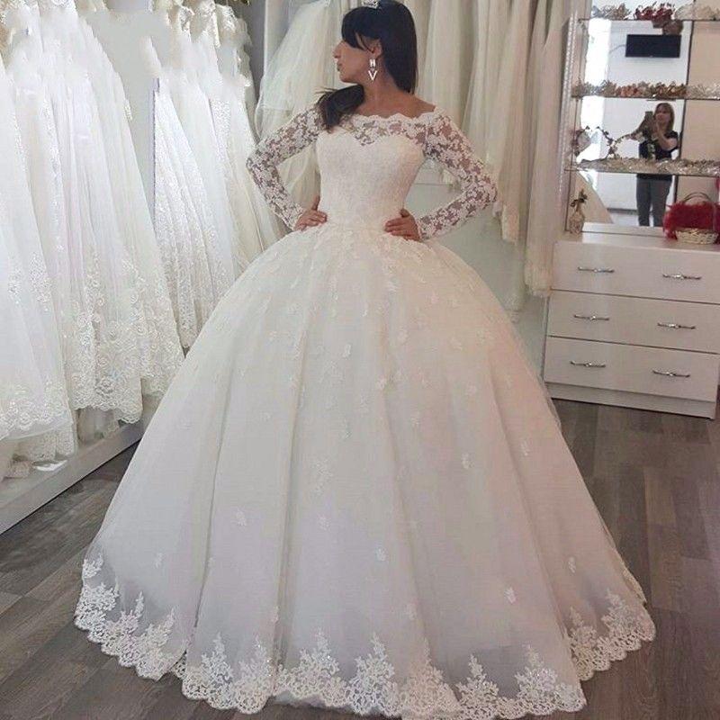 Acheter Manches Longues Robes De Mariée Bouffantes