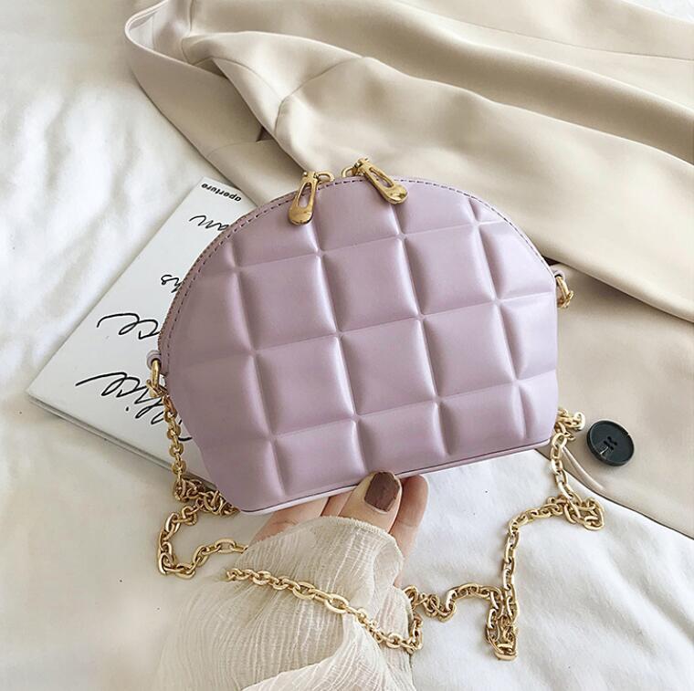 Пляжная сумка Новая мода Женщины цепи Shouder Сумки Plain Малый Shell сумка Креста тела Летняя сумка
