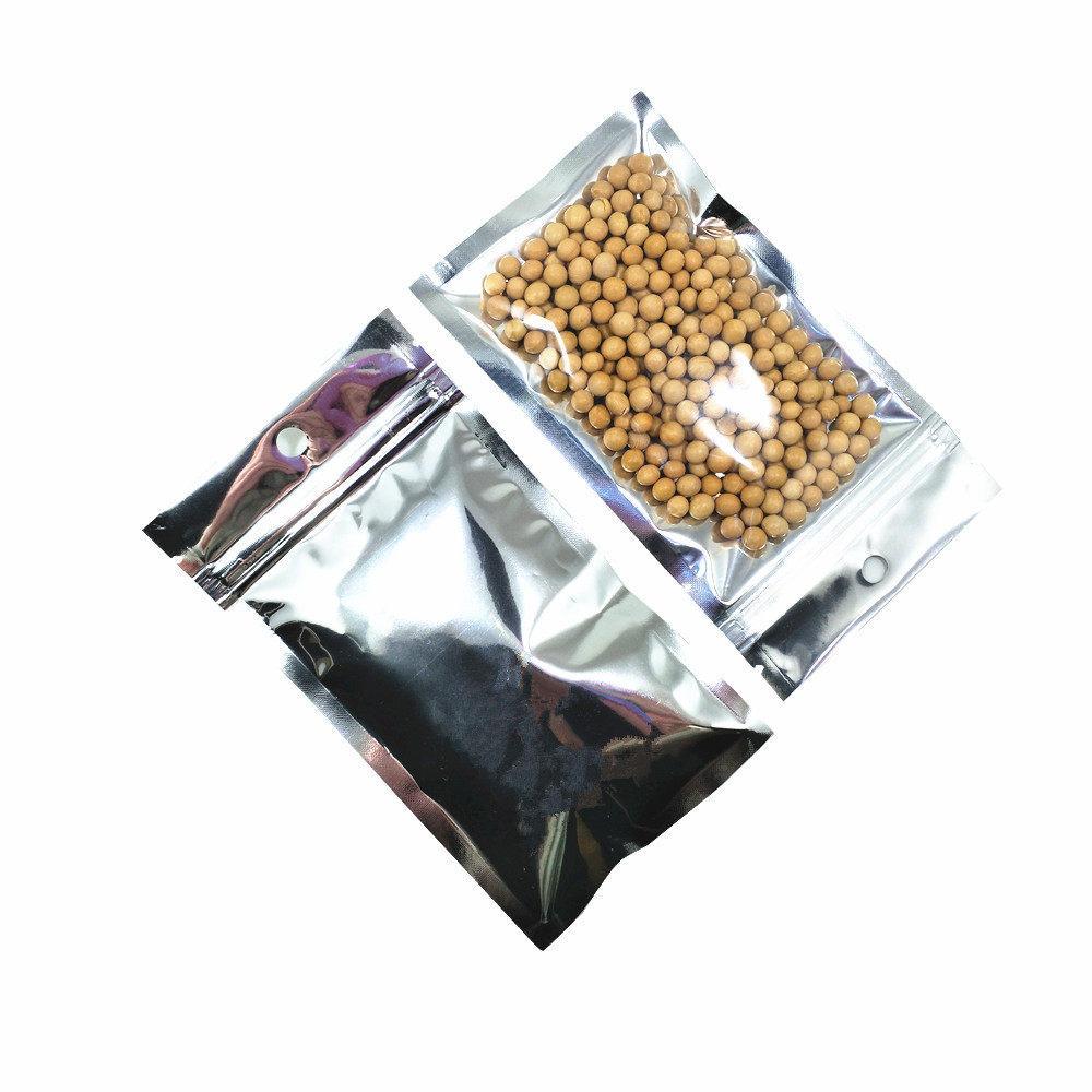 """10х17.5 см (3.9""""Х6.9"""") Алюминиевая Фольга / Ясно Resealable Застежка-Молния Замок Пластиковый Лавсановой Фольги Пакет Мешок Упаковки Мешка Застежки-Молнии Упаковывая 2 Типа"""