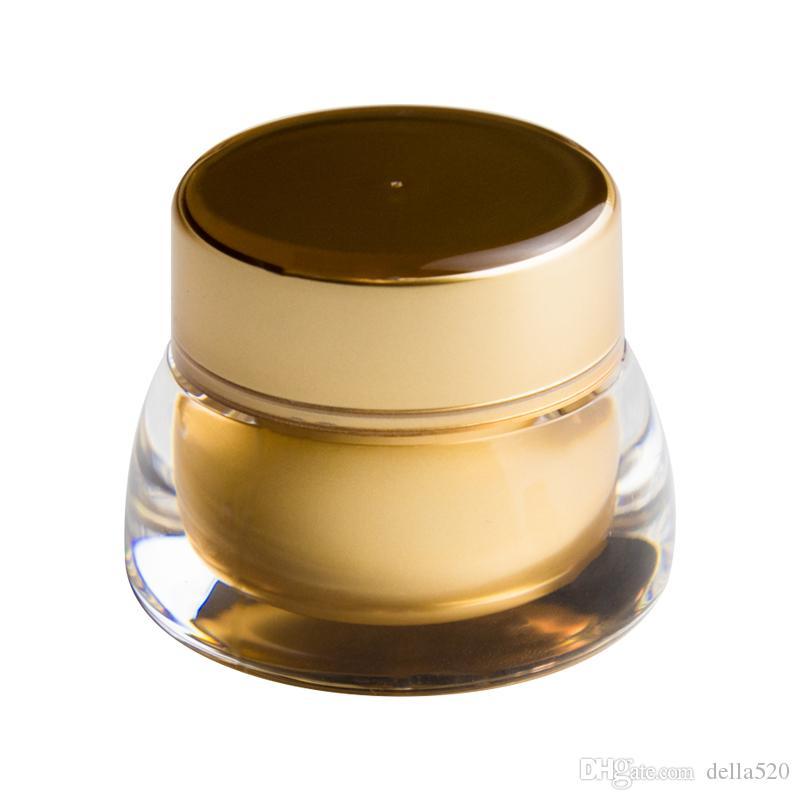 10 قطع 7 جرام 7 ملليلتر الخالي التجميل جرة وعاء السفر المحمولة eyecream ماكياج الوجه كريم الحاويات زجاجة الذهب الاكريليك التجميل كريم جرة