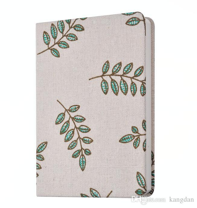 Novely cloth notebooks fashion design trave libro del diario vintage floreale fiore albero stampa copertina notepads classico business notepad
