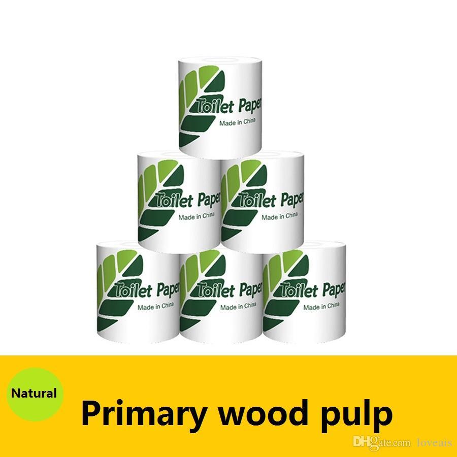 Aseo personalizable Papel Higiénico de Toallas de Papel Tissue Para el hogar Baño Accesorios de cocina de trabajo de madera de pulpa de papel higiénico Rolls