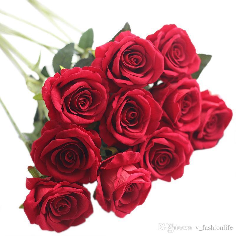 Künstliche Blumen Rose Silk Blumen Real Touch Peony Marrige dekorative Blumen Hochzeit Dekorationen Weihnachtsdekor 13 Farben