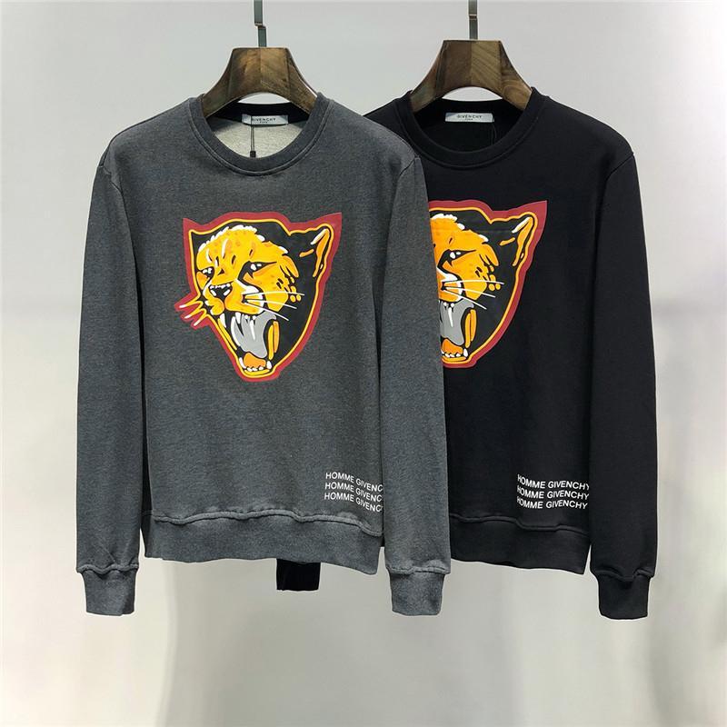 Горячие продажи Новых толстовок перечисляя Promotion мужского Hoodies мультфильма Leopard печать лошадь вскользь дикого размер бесплатной доставки M-3XL