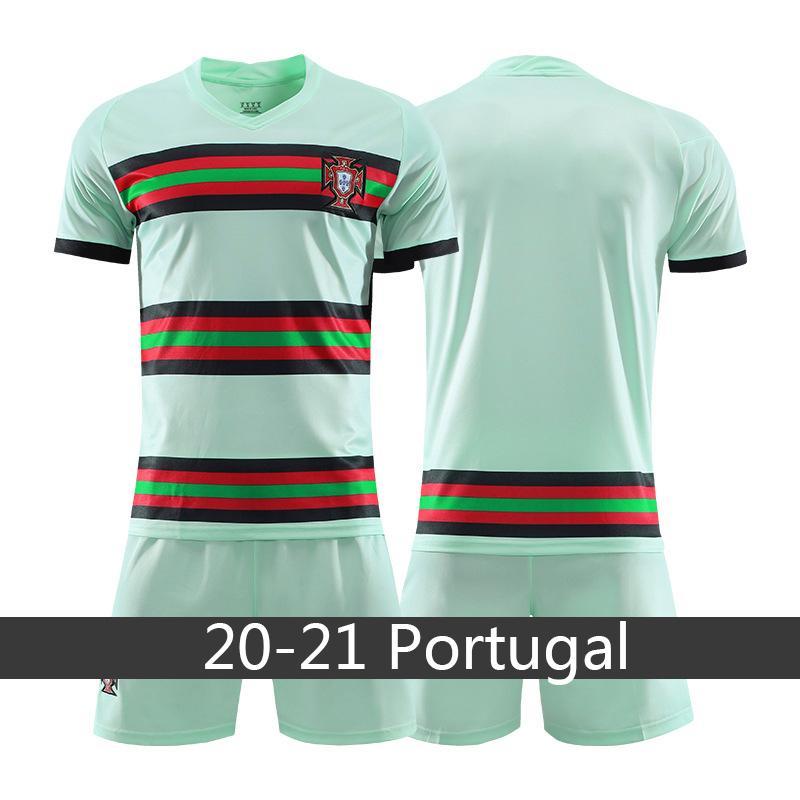 كرة القدم جيرسي البرتغال 20 21 RONALDO ANDRE SIL VA BERNARDO تدريب كرة القدم قميص الرئيسية الرجال الزي الرسمي وتتسابق لاعب