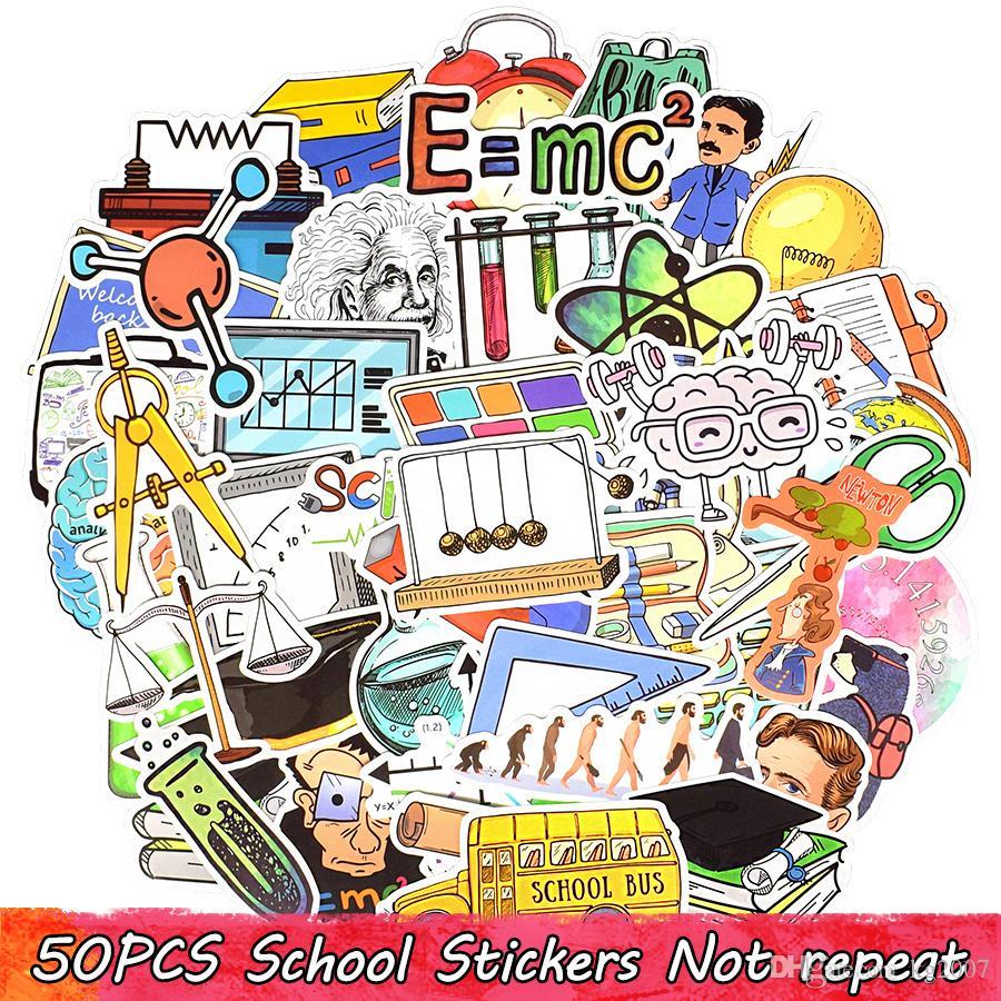 50 PCS Back to School Stickers Bomb Laptop Water Bottle Luggage Scrapbooking Skateboard Helmet Bike Car Gifts Toys for Kids Teens Adults