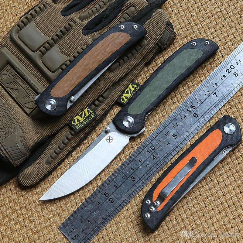 DICORIA YX-636 folding knife Ball bearing 14C28N blade G10 handle camping hunting Outdoor suvival pocket knives EDC tools