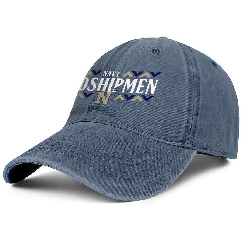 Maryland Navy Midshipmen le football logo hommes bleu Wordmark et les femmes camionneur conception denim casquette équipée équipe de baseball de la mode sportive personnalisés