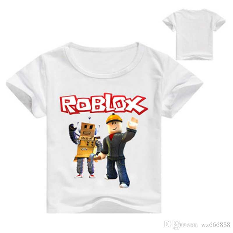 ROBLOX Boys Girls Kids Cartoon Short Sleeve T-shirt Tops Casual Summer Costumes