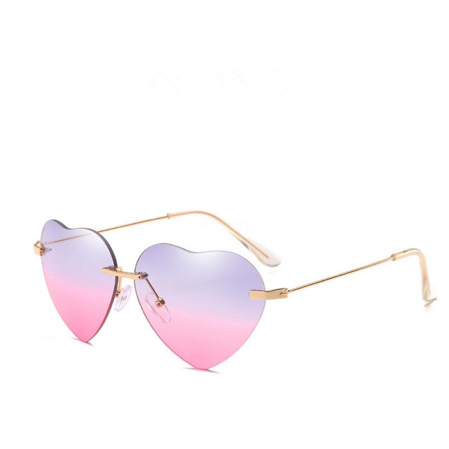 Madeliny New Irregular Oval Women Heart-Shaped Sunglasee Fashion Red Sun 2020 Metal Frame Personality Men Glasses Eyewear Ma393 C19041001 #57