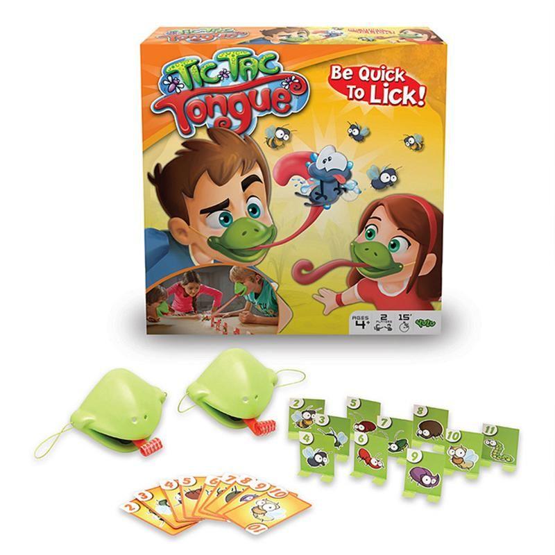 보드 게임은 혀를 들어 어린이 참신 장난감 빠른으로 핥아! 카멜레온 스티커 혀 보드 게임 마스크 촬영해야합니다