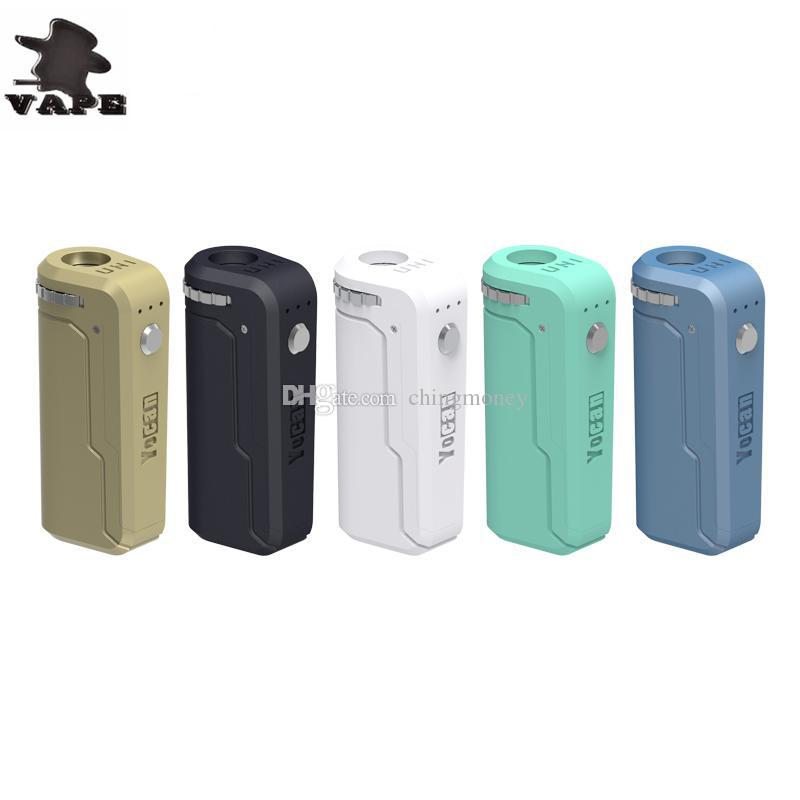 Yocan UNI Box Mod 650mAh Preheat VV Battery 10 Colors For 510 Thick Oil Vape Preheating Cartridge Ecig Mods DHL free