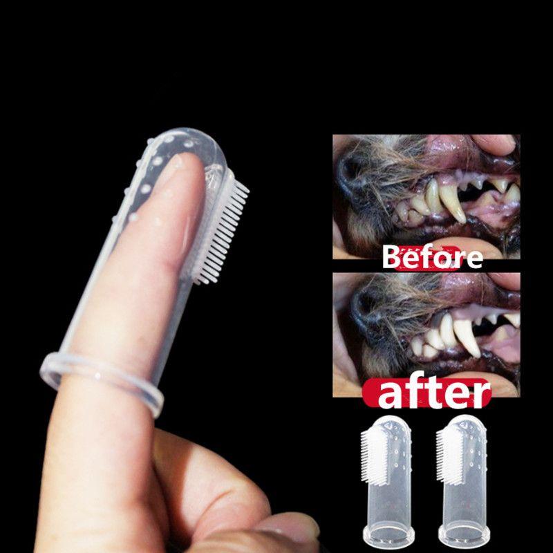 10 шт. новый горячий продавать супер мягкий Пэт палец зубная щетка Тедди собака щетка неприятный запах изо рта зубной камень инструмент собака кошка чистящие средства 2019