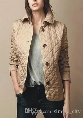 여성용 겨울 격자 무늬 다이아몬드 재킷 긴 소매 2019 가을 단풍 싱글 브레스트 런던 클래식 코트 영국 캐주얼 블레이저 레드 S-XXL