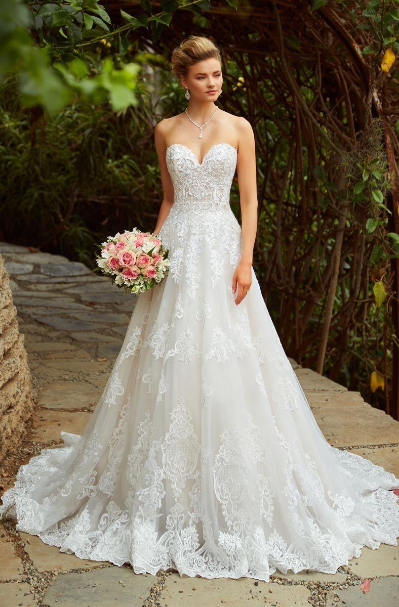 Discount New Abiti Da Sposa Lace Wedding Dresses A Line Strapless