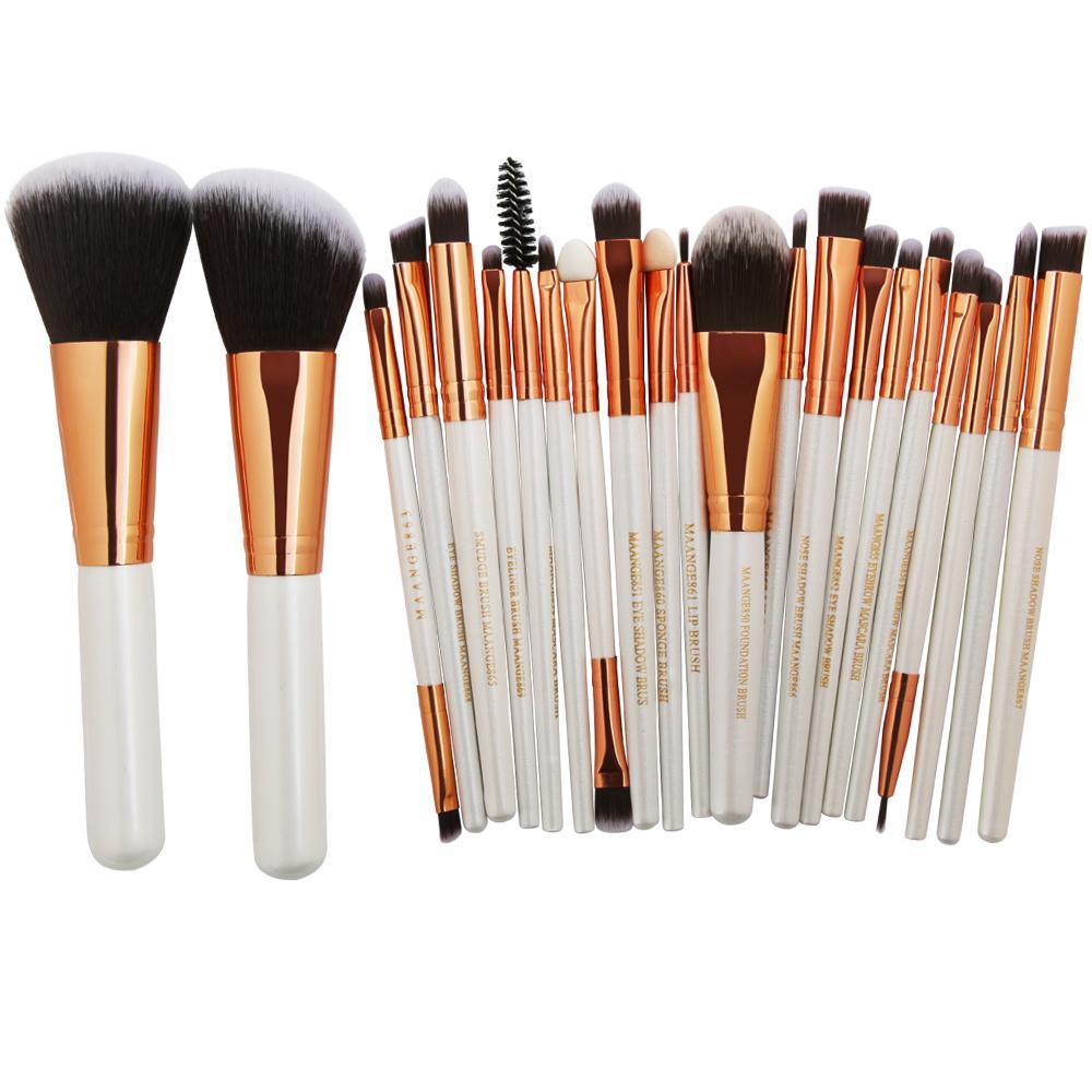 Pro 20/22 unids Pinceles de Maquillaje Cosméticos Powder Blush Eyeshadow Eyeliner Lip Make Up Pincel Maquiagem