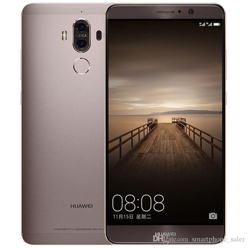 Maté d'origine Huawei 9 Phone 4G LTE Cell 6Go RAM 128Go ROM Kirin 960 Octa base Android 5.9 pouces 20.0MP ID d'empreintes digitales NFC Smart Mobile Phone