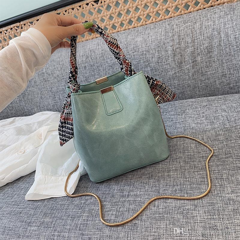 2019 nuova borsa secchiello secchiello borsa selvaggia moda tote bag a tracolla della borsa Yazi / 5