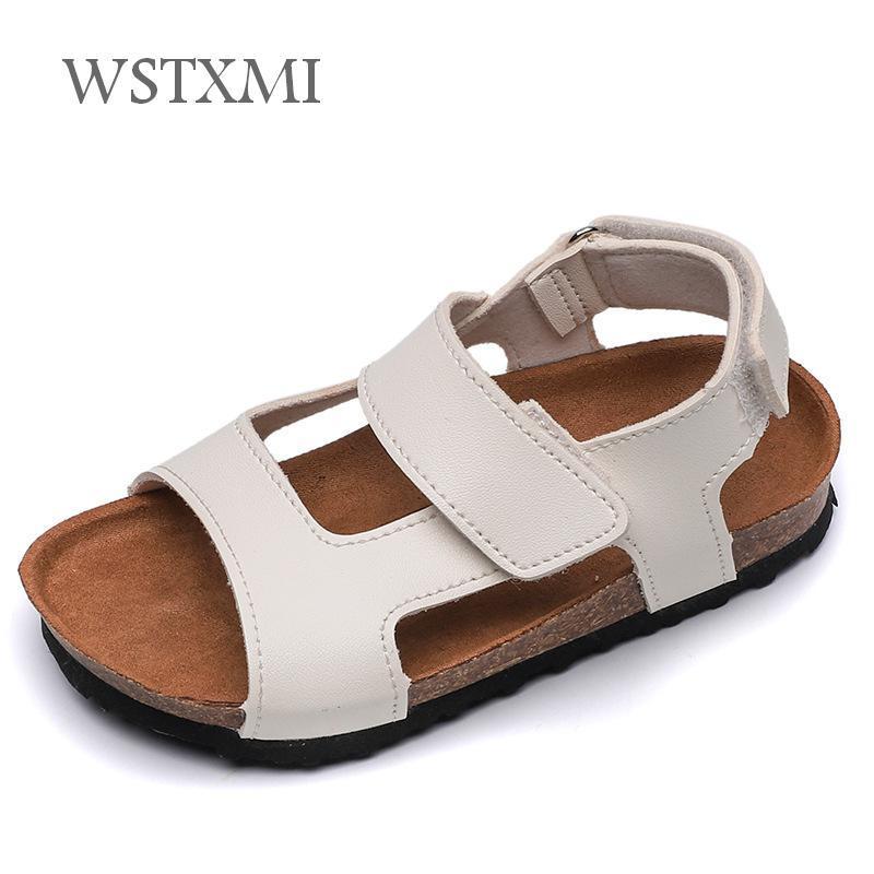 Summer Children Leather Sandals For