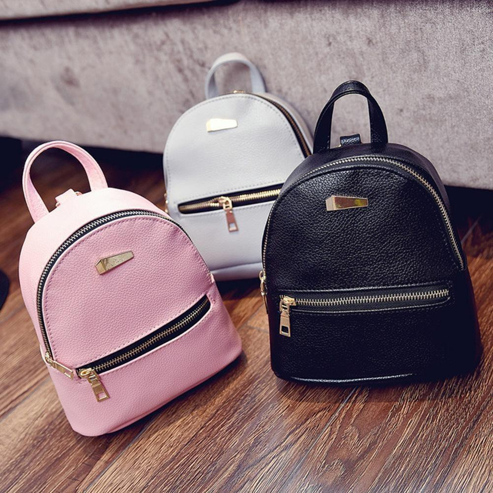 FashionWomens Girls Ladies Backpack Travel Shoulder Bag PU Leather Rucksack