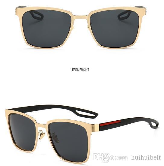 nuovi occhiali da sole polarizzati Occhiali da sole da uomo ad alta definizione Specchio rana anti-UV Occhiali da guida 0120