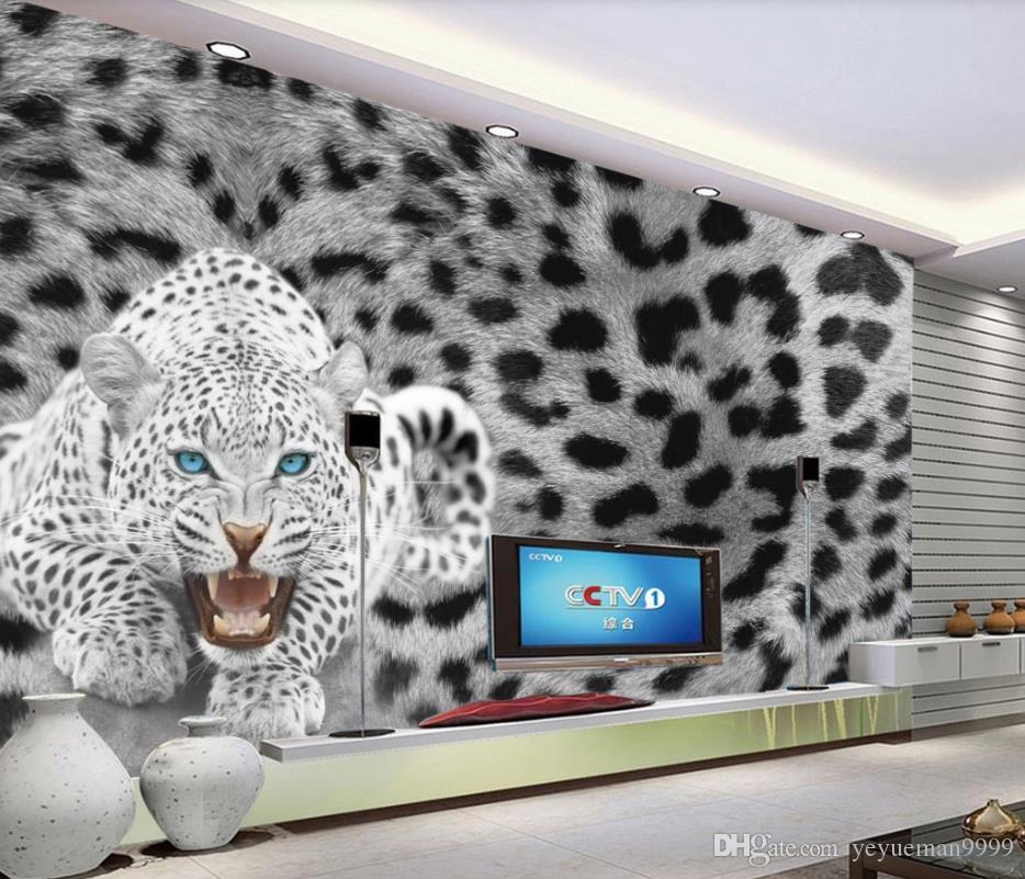 Modern Fashion home improvement papel de parede para animais para sala de estar TV decoração de fundo parede pintura papel de parede 3d