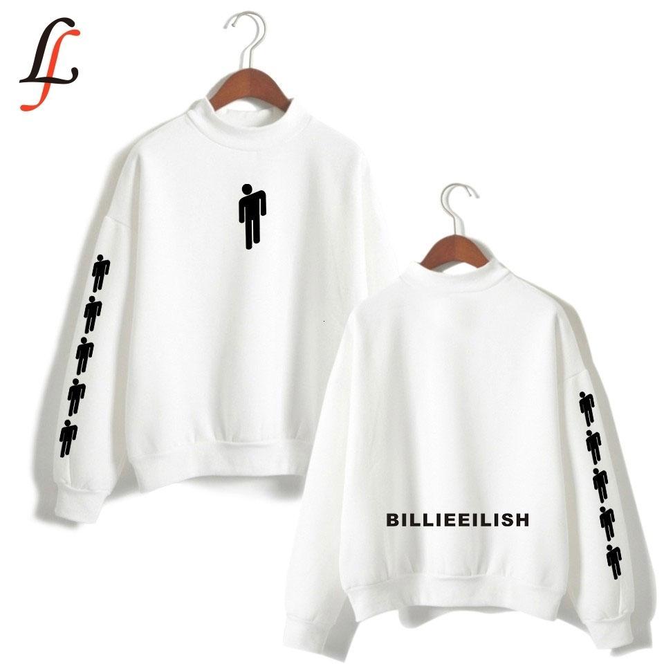 Billieeilish Billie Eilish Женщины водолазки Толстовка Толстовка Kpop Повседневные устаревать Hip-Hop Bangtan Boys Одежда V191028 уличных