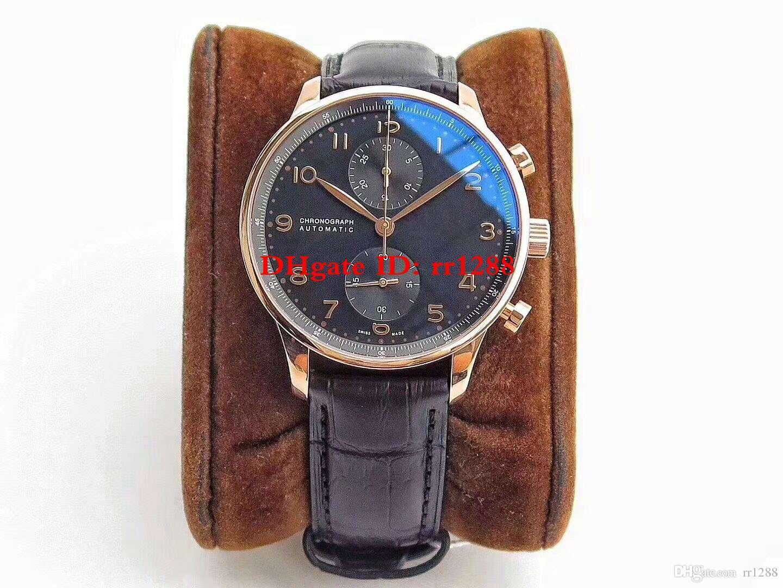 6 لون فاخر أعلى جودة ووتش Z.F Factory Best V2 Version version Portuguese Chronograph Swiss 7750 Automatic Diving Mens Watches