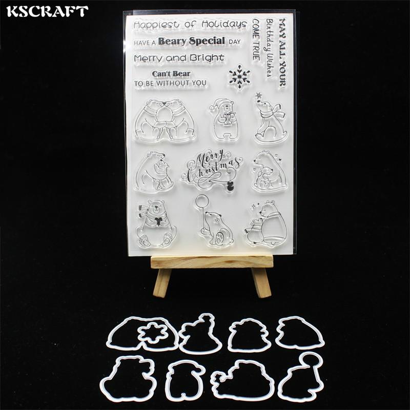 Toptan Sevimli Ayılar Metal Kesme Ölür Damga DIY Scrapbooking / fotoğraf albümü Dekoratif Kabartma DIY Kağıt Kartları 111