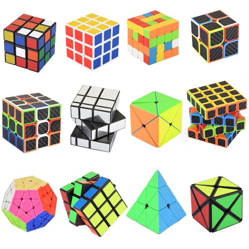 WJ1012 포켓 매직 큐브의 비정상적인 보복 큐브 특별한 루빅스 큐브는 피라미드 열쇠 고리 어린이 트위스트 퍼즐 장난감을 부드럽게