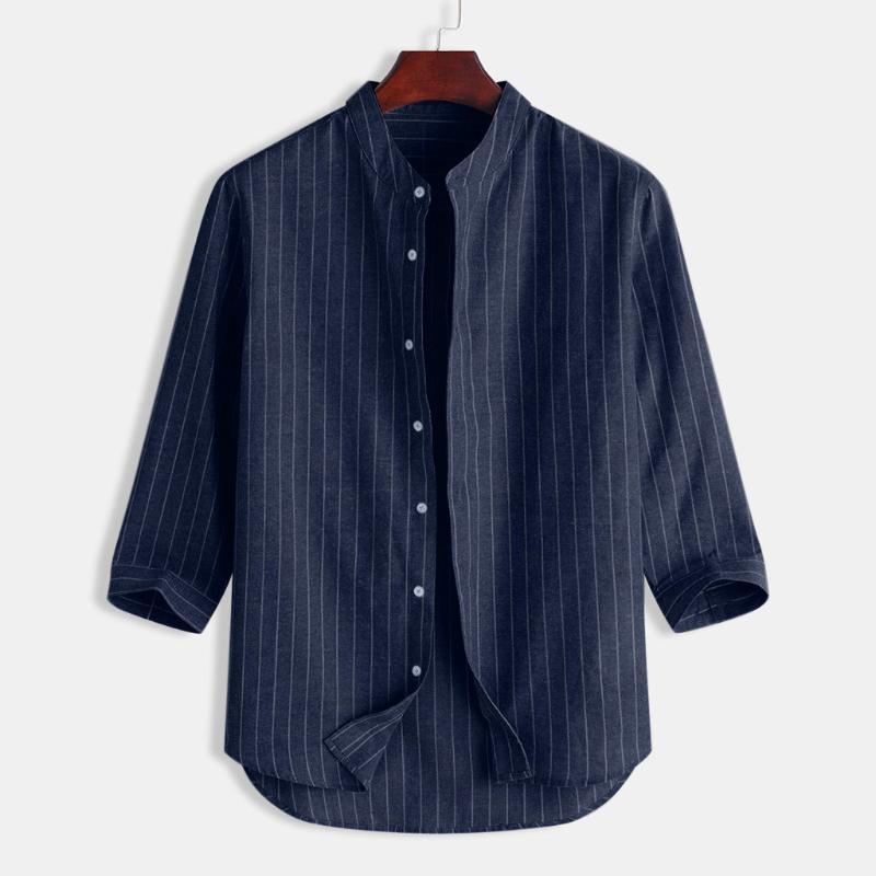 Случайные плюс размер мужская одежда футболка мужской хлопок белье полоса печать мужчины рубашки лето блузка сорочка Homme 2020