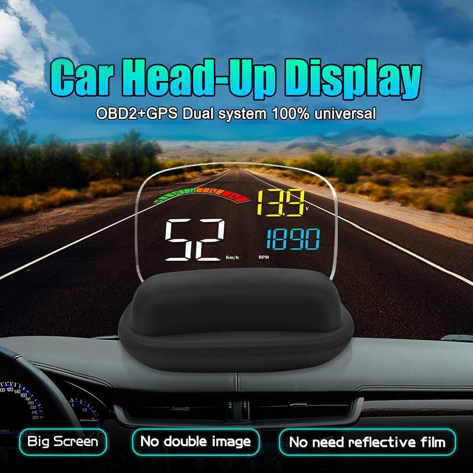 2019 새로운 HD OBD2 자동차 HUD 온보드 컴퓨터 C800 2 일 개 GPS OBD 속도 프로젝터 디지털 속도계 HeadUp 표시 보안 경보에