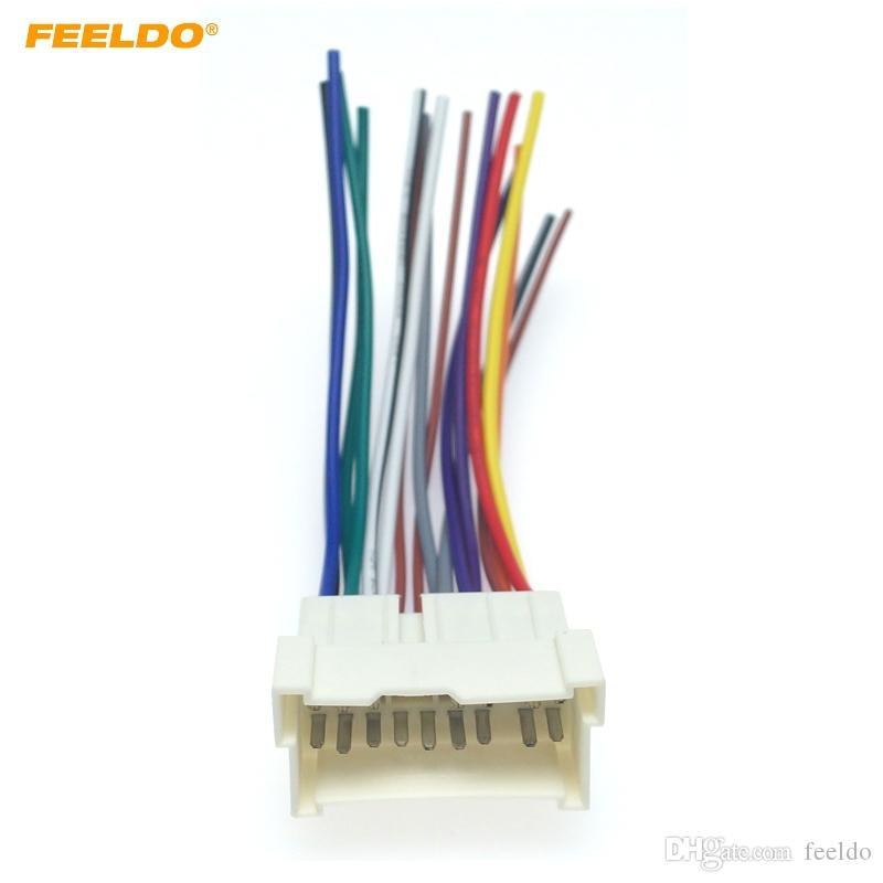 FEELDO 자동차 OEM 오디오 스테레오 배선 하니스 어댑터의 경우 현대 / 기아 (01 ~ 05) # 2053 애프터 마켓 CD / DVD 스테레오 설치