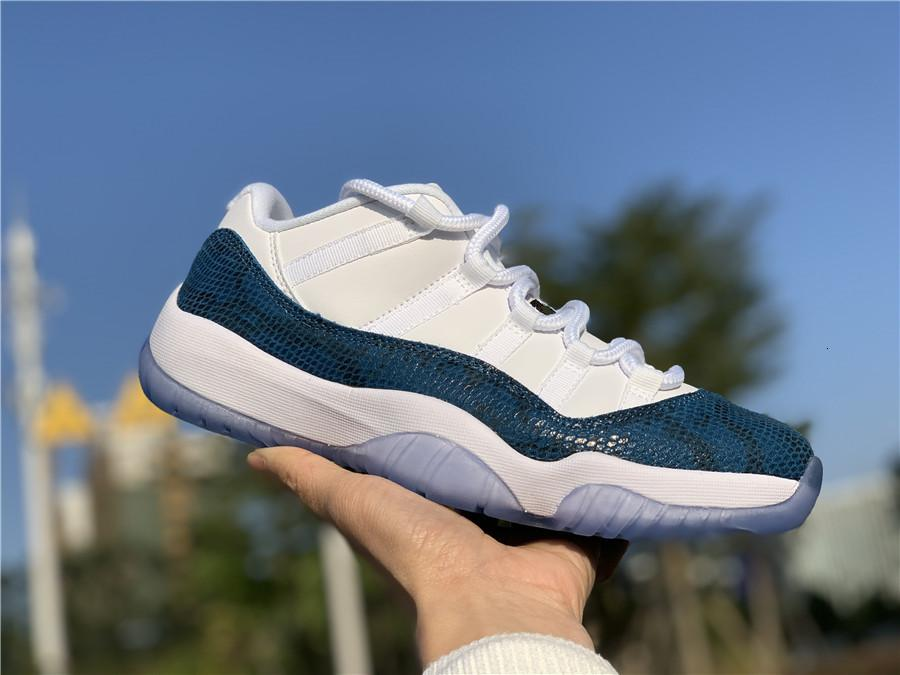 2019 Новый 11 Синий змеиной Низкий мужчины обувь для баскетбола 11s XI Sports кроссовки тренеры на открытом воздухе с размером коробки высшего качества 8-13