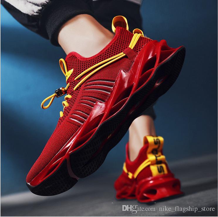 2020 Sıcak Satış moda markası erkekler nefes Günlük Ayakkabılar siyah beyaz kırmızı moda erkek erkekler atletik spor sneaker boyutunu 40-44 antrenör