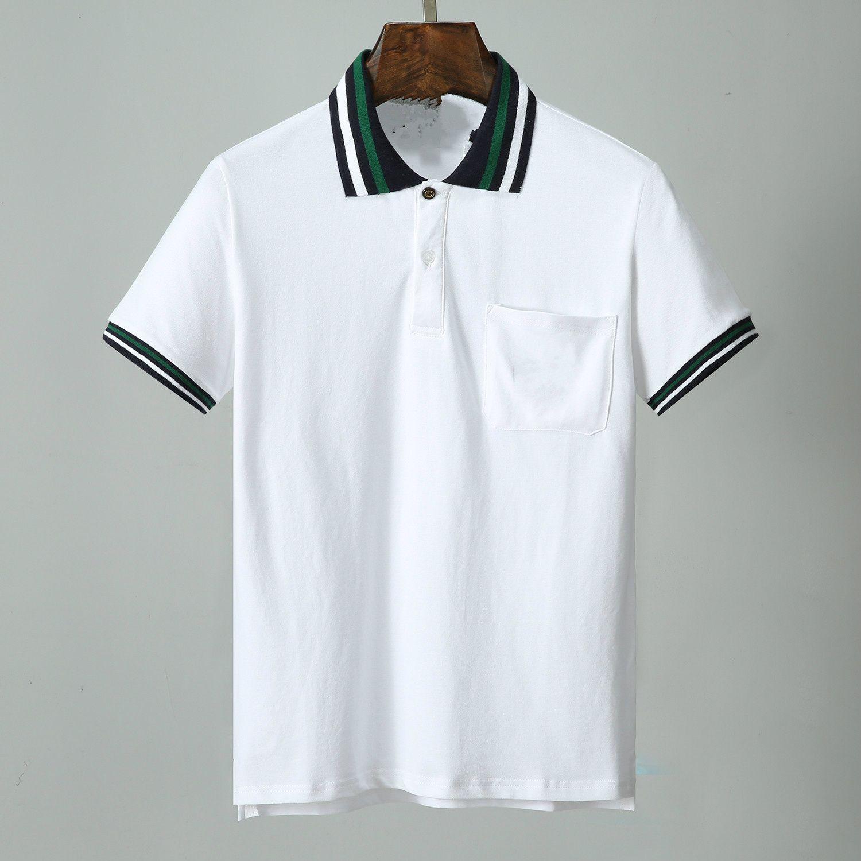 20SS Le nouveau design des hommes cravate à manches courtes en coton piqué T-shirt décontracté spot haut de gamme