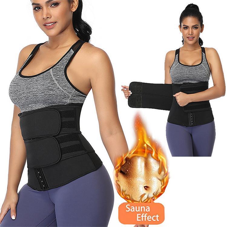 Kadın şekil giyim ön ayarlanabilir kanca sıcak ter neopren zayıflama şekillendirici
